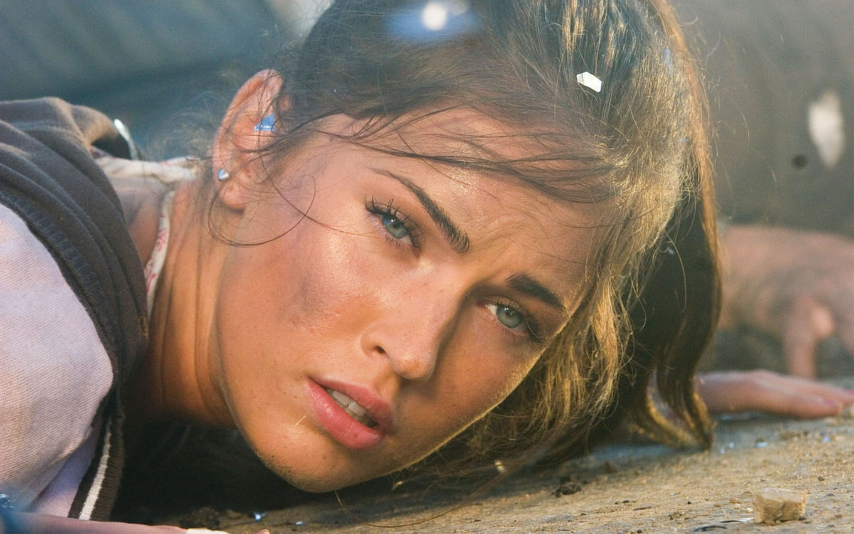 Megan Fox in a scene from <i>Transformers</i> (2007)
