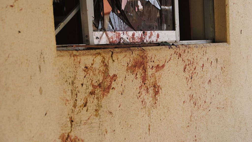 Blood-splattered window after July 7 blasts by Boko Haram. (Photo: AP)