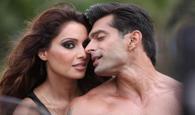 Bipasha Basu and Karan Singh in a scene from <i>Alone</i> (2015)