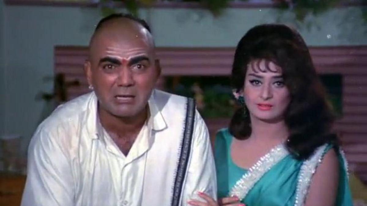 Mehmood with Saira Banu in <i>Padosan</i>