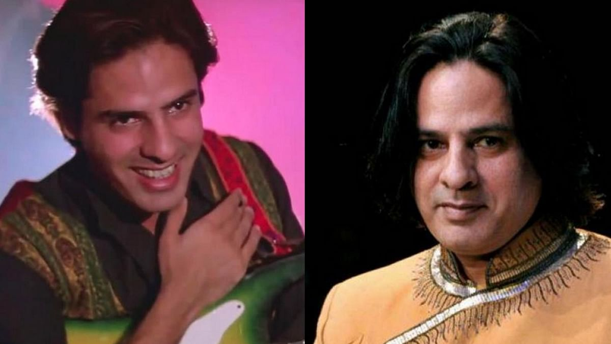 Rahul Roy in 1990 in <i>Aashiqui </i>(L) and  today (R) (Photo: Twitter/@vaavu)
