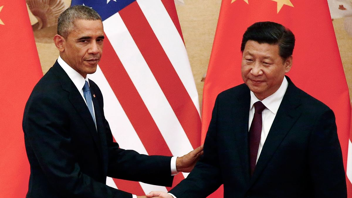 US President Barack Obama with his Chinese counterpart Xi Jinping. (Photo: Reuters)