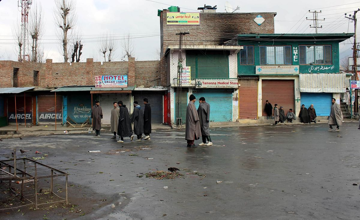 The main market in Tral town, which has emerged as one of the hotbeds of the 'new insurgency'.<b> </b>(Photo: Jehangir Ali)