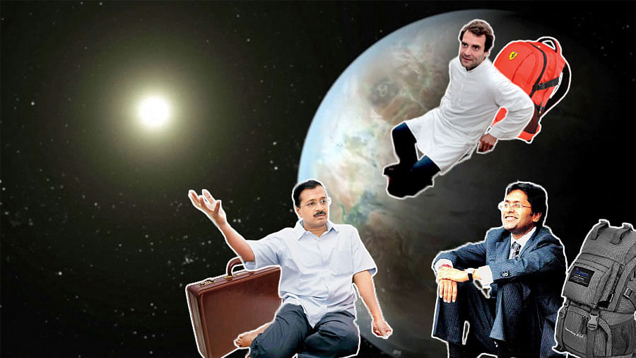 Arvind Kejriwal, Rahul Gandhi and Lalit Modi are all set to go to Kepler-452b. ( Photo: This image has been altered by<i> The Quint</i>)