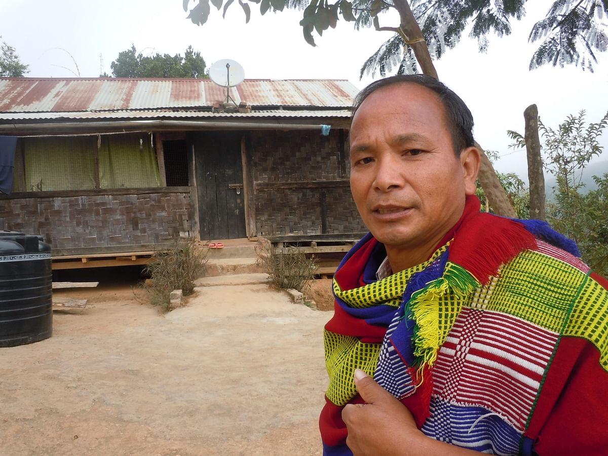 Tongsin Thurhring, the Anal Naga  chief of Thangbung Minou village, says the land belongs to the community. (Photo: Courtesy: Maitryee Handique)