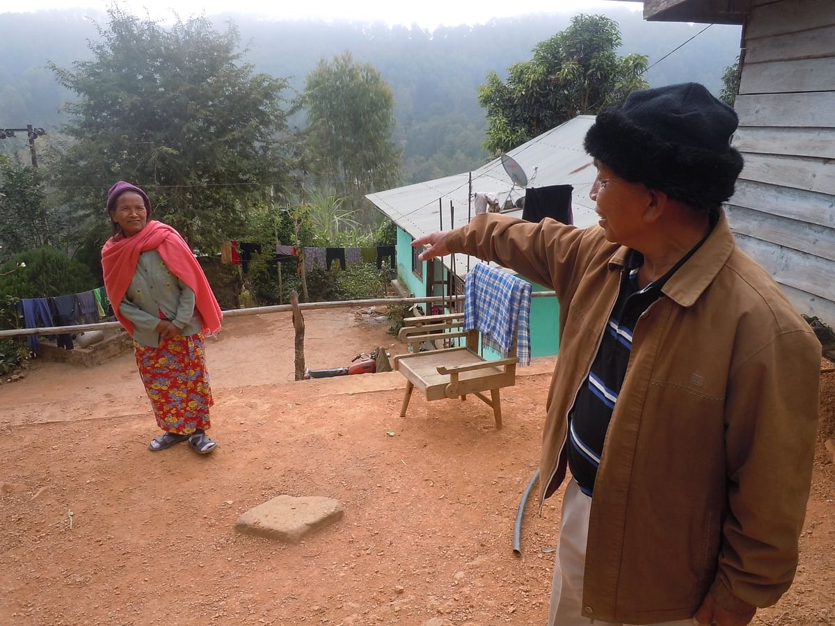 Seltun Thungno, and his wife, Jultun. For survival, Thungno planted trees under the government's watershed development scheme. (Photo: Courtesy: Maitreyee Handique)