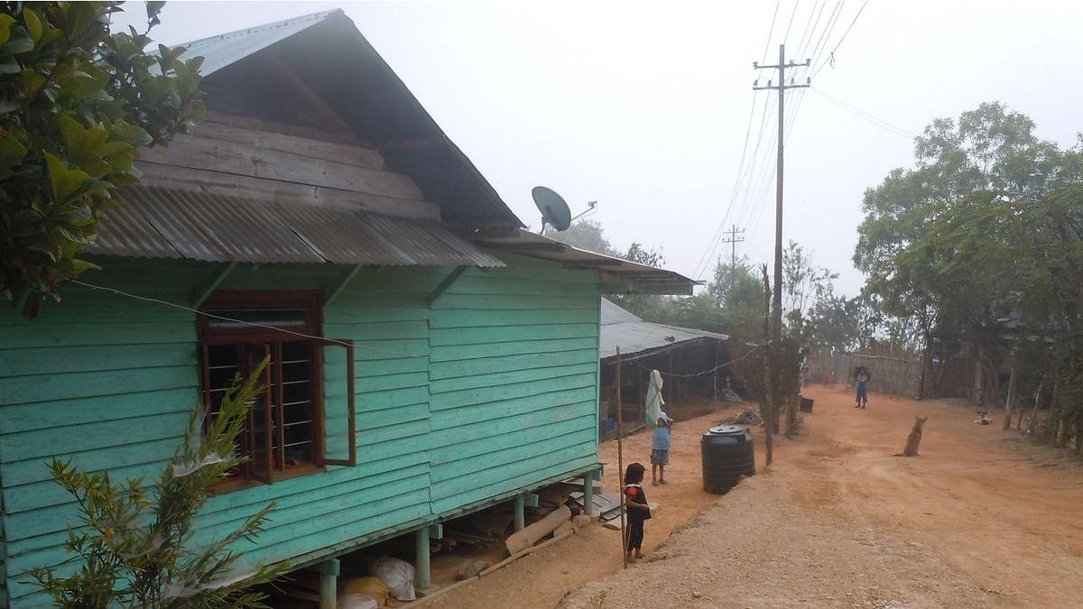 A view of Thangbung Minou village in Manipur's Chandel district. (Photo: Maitreyee Handique)