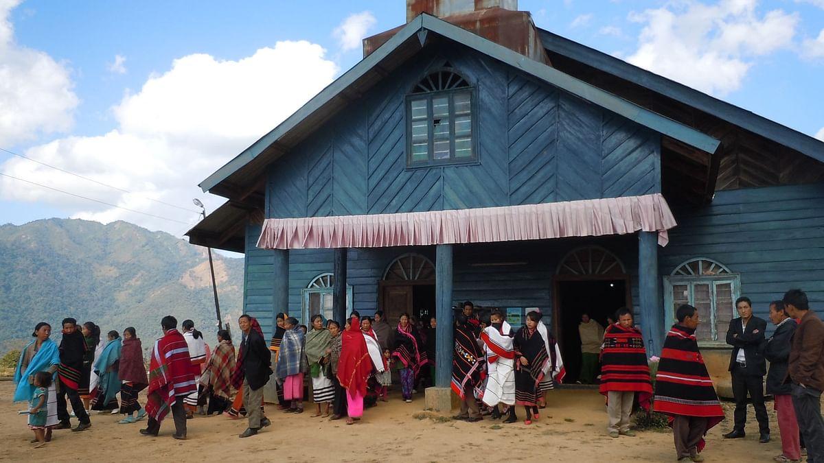 Khongdei Khuman Baptist church where people were holed up for days. (Photo: Maitreyee Handique)
