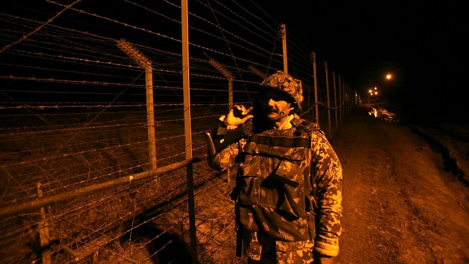 A soldier along the LoC.