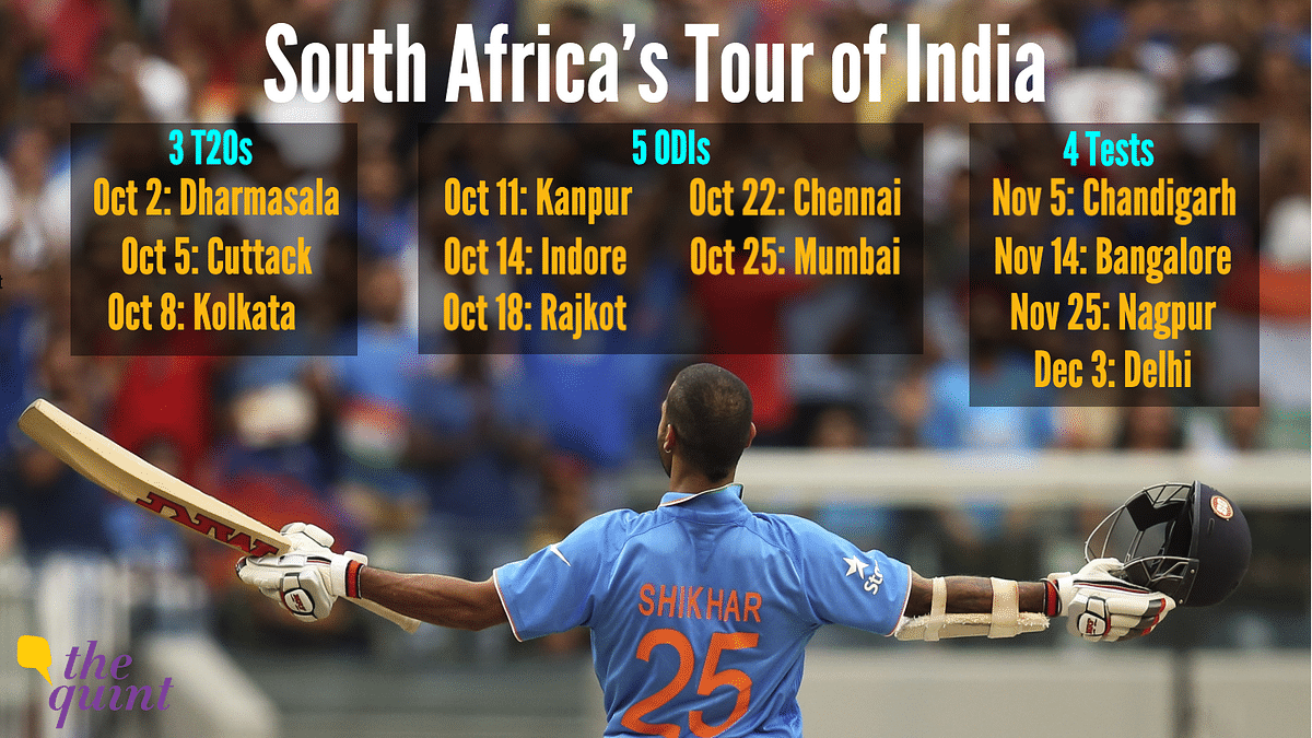 South Africa's Tour Of India; Three Months and 12Matches