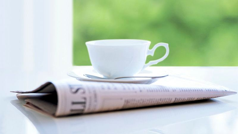 Nothing like your morning cuppa and a newspaper on a Sunday.