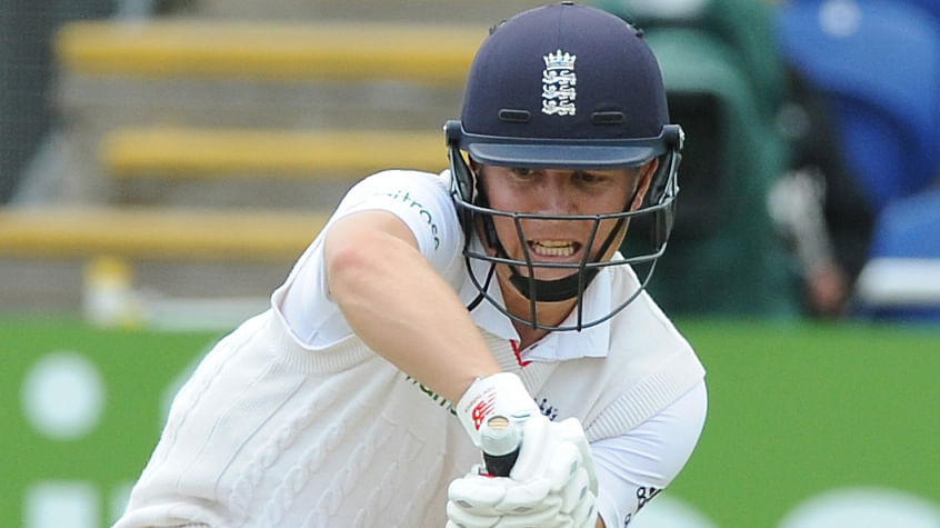 Gary Ballance plays a shot during day one of the first Ashes Test. (Photo: AP)