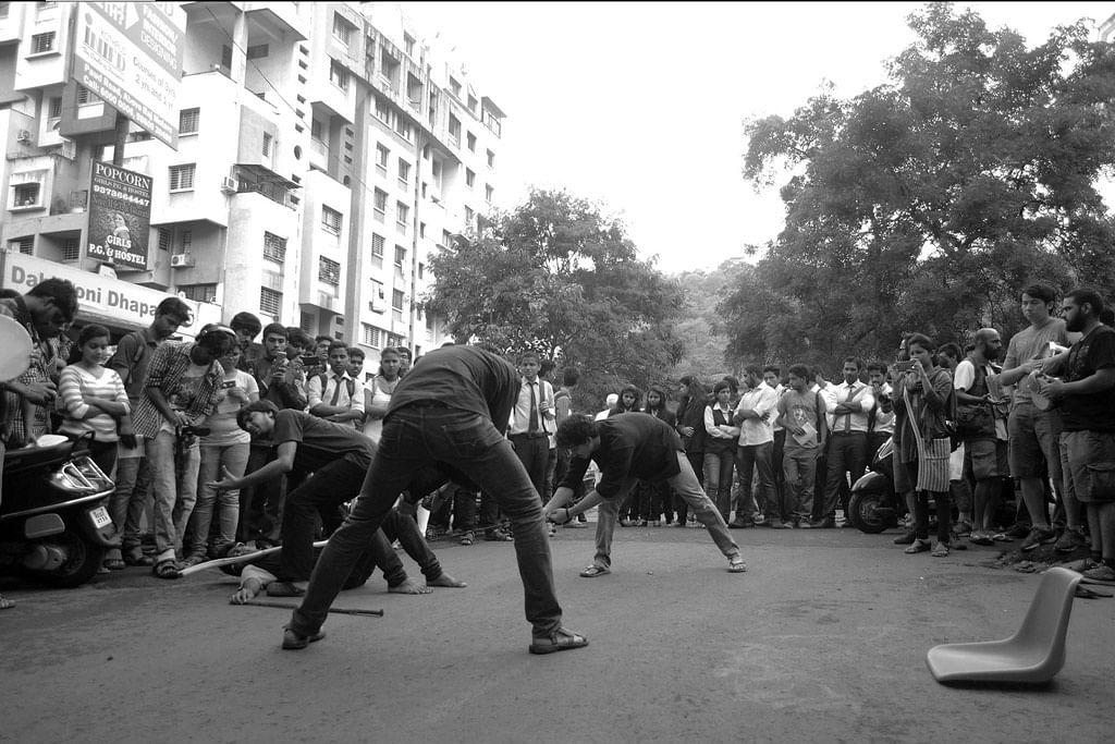 FTII students performing a street play. (Photo: Facebook/FTIIWisdomTree)