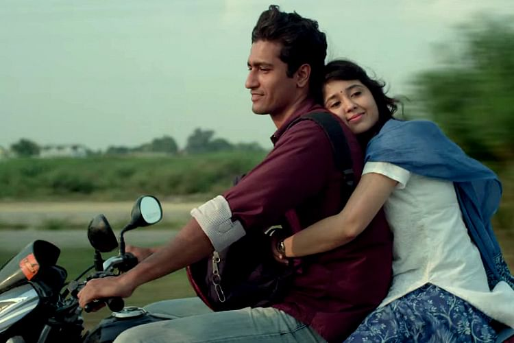 Vicky Kaushal and Shweta Tripathi in a scene from <i>Masaan</i>