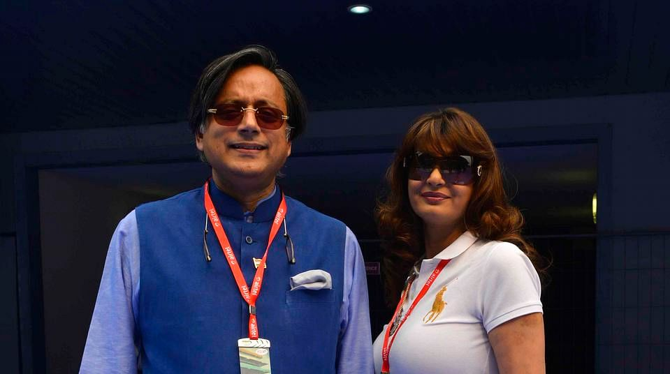 Shashi Tharoor with Sunanda Pushkar. (Photo: Reuters)