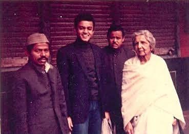 Nandan Singh (L), the author (M) and Aruna Asaf Ali (Arunapishi) (R) in 1994.