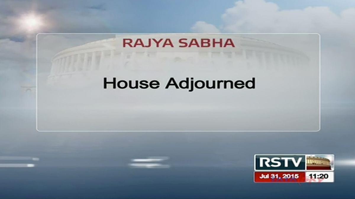 Shot of Rajya Sabha TV after the House was adjourned. (Courtesy: Rajya Sabha TV)