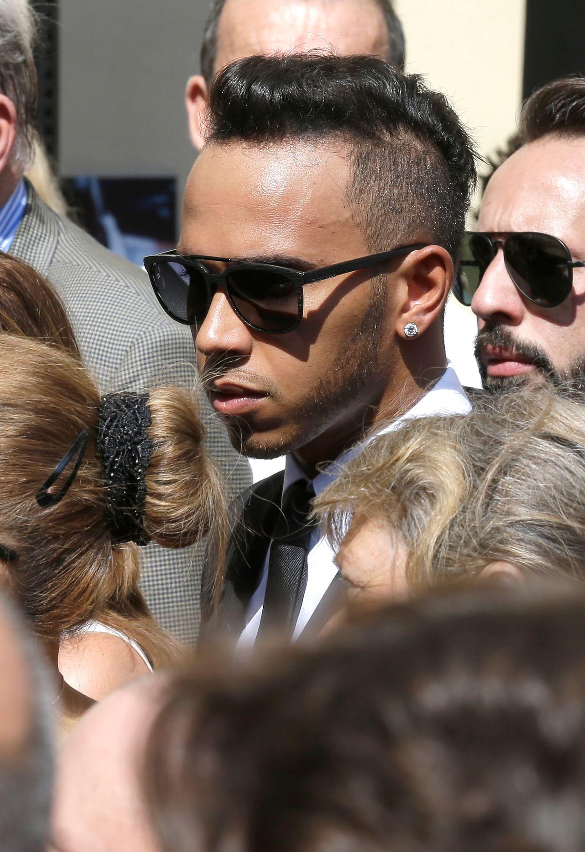 Reigning F1 Champion Lewis Hamilton at the ceremony. (Photo: AP)
