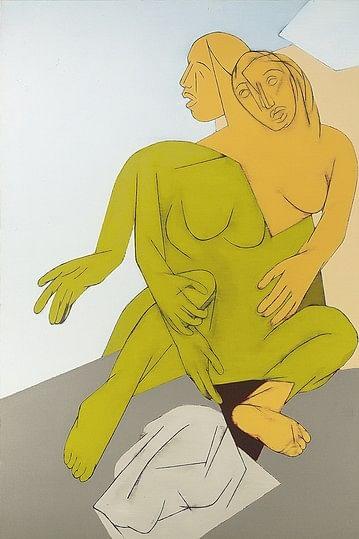 'Falling Figure', a Tyeb Mehta painting.