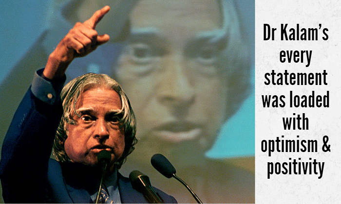 File picture of Dr A.P.J Abdul Kalam addressing a gathering of students in Bangalore. (Photo: Reuters)