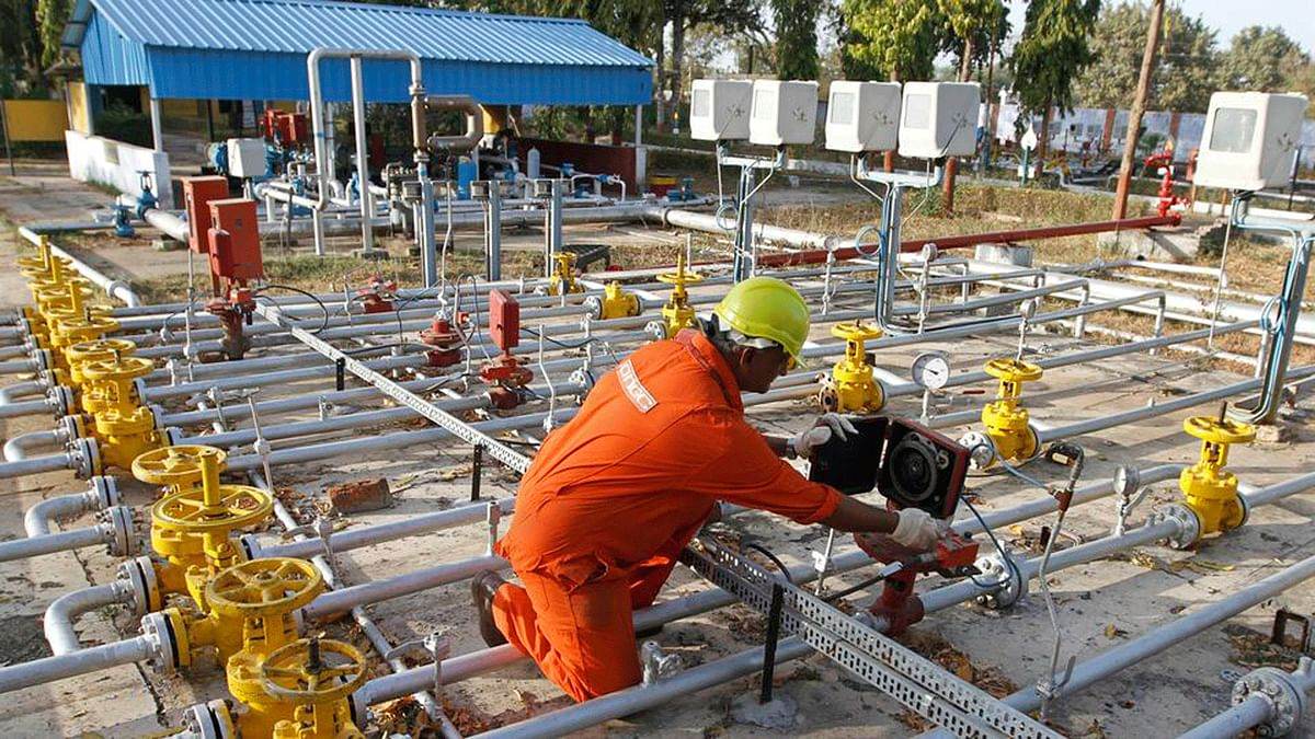 A technician works inside the Oil and Natural Gas Corp (ONGC) group gathering station on the outskirts of Ahmedabad. (Photo: Reuters)
