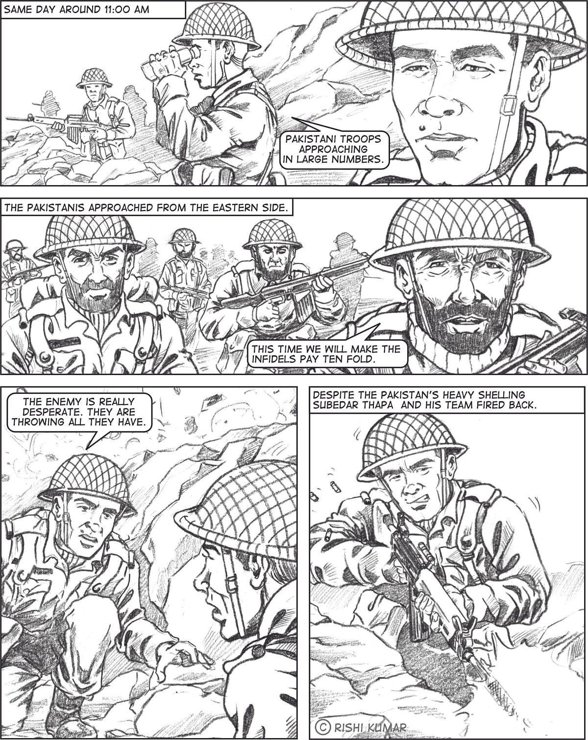 An excerpt from the comic on Subedar Tika Bahadur Thapa.
