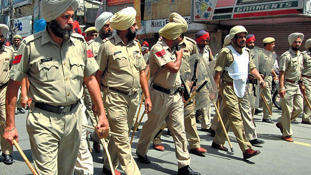 On the disproportionate influence of Punjab police in the public affairs of the state. (Photo: Reuters)