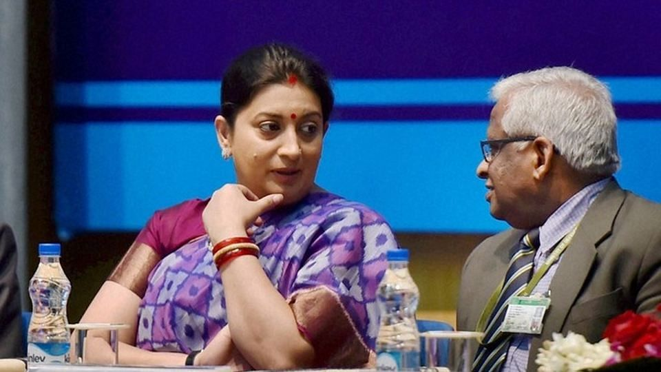 HRD Minister, Smriti Irani, beleaguered with charges that she inflated her otherwise modest educational attainments, may not find the secrets of Sino-Japanese education in the RSS-prescribed texts. (File Photo: Reuters)