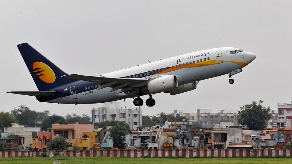 A Jet Airways passenger aircraft takes off from  Ahmedabad Airport. Image used for representation.