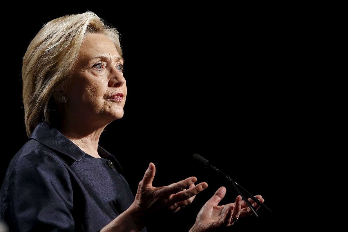 Democratic U.S. presidential candidate and former Secretary of State Hillary Clinton addresses the U.S. Conference of Mayors Annual Meeting in San Francisco June 20, 2015.