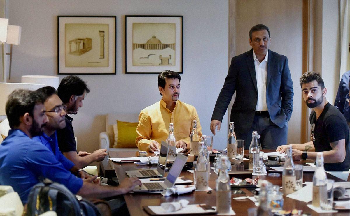 Indian Test skipper Virat Kohli attended the selection committee meeting in New Delhi on Thursday.(Photo: PTI)