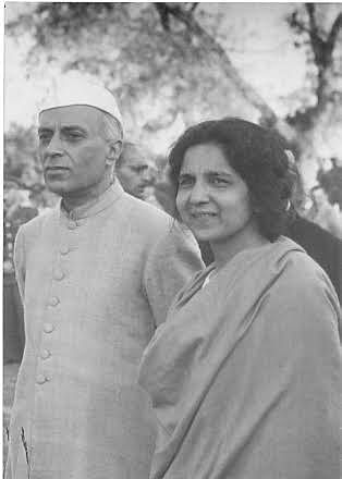 Aruna Asaf Ali with then PM Jawaharlal Nehru.