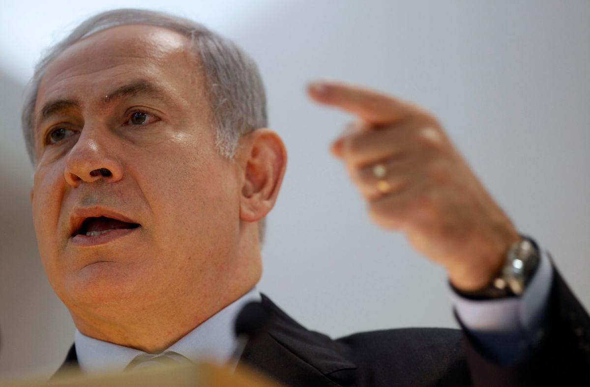 File picture of Israel's Prime Minister Benjamin Netanyahu addressing a meeting. (Photo: Reuters)