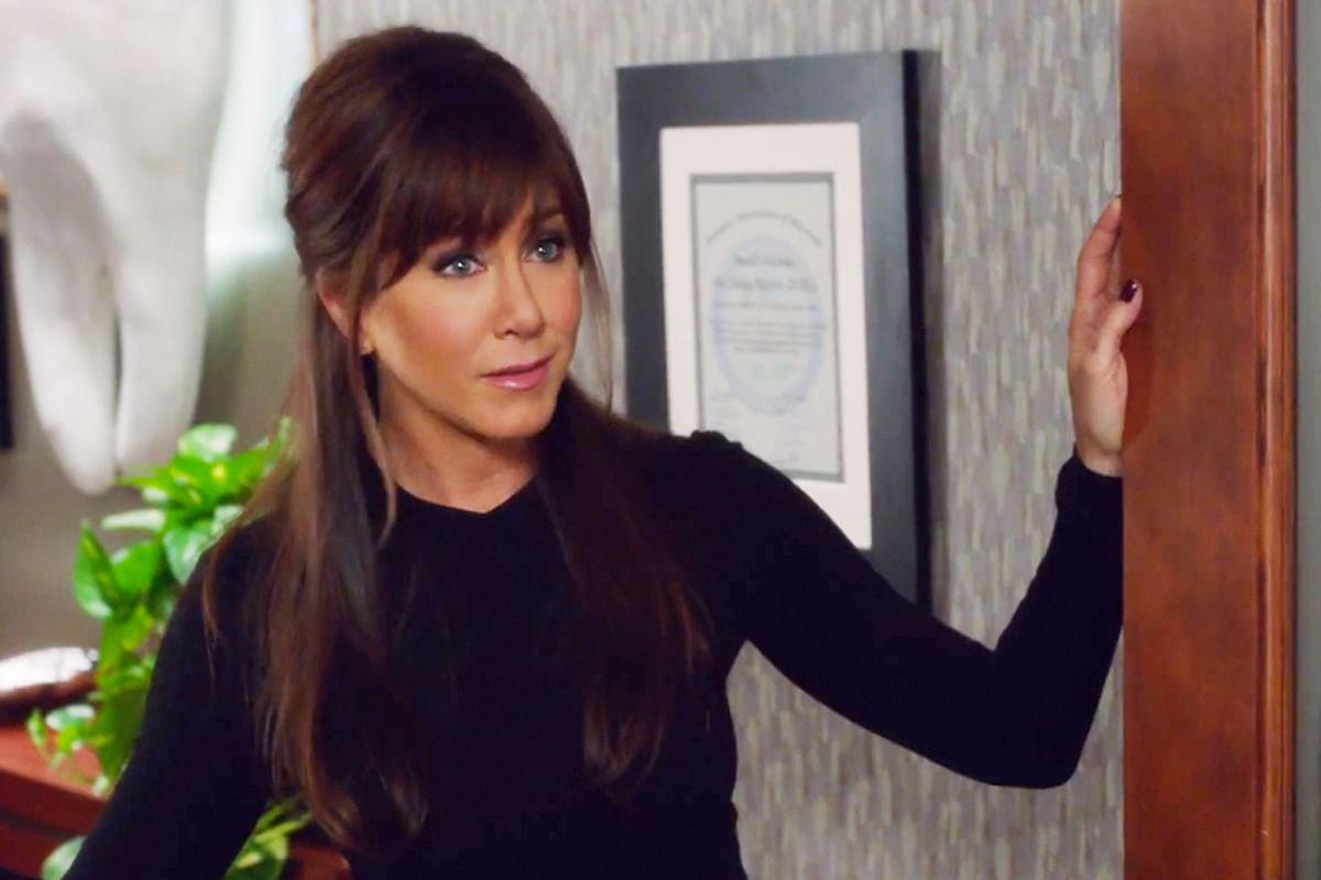 Jennifer Aniston is a scene from <i>Horrible Bosses 2 (2014)</i>