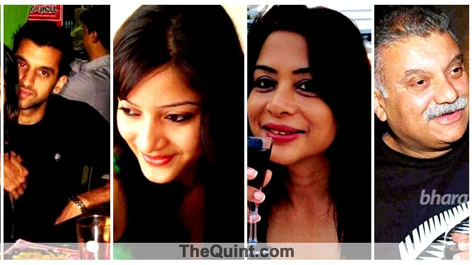 Indrani Mukerjea (L) and Sheena Bora (R) (Photo: Altered by The Quint)