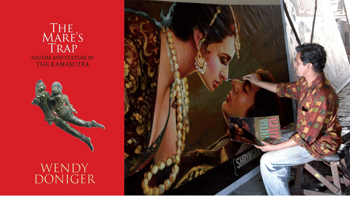 The Mare's Trap by Wendy Doniger (Left). A painter works on a poster for the controversial film <i>Kama Sutra</i>&nbsp;before it is put up at a local theatre in Mumbai (Photo: Reuters)