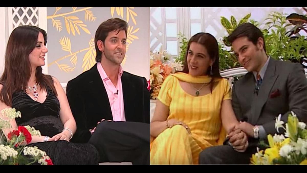 Hrithik Roshan-Sussanne Khan and Saif Ali Khan-Amrita Singh on Simi Garewal's talk show