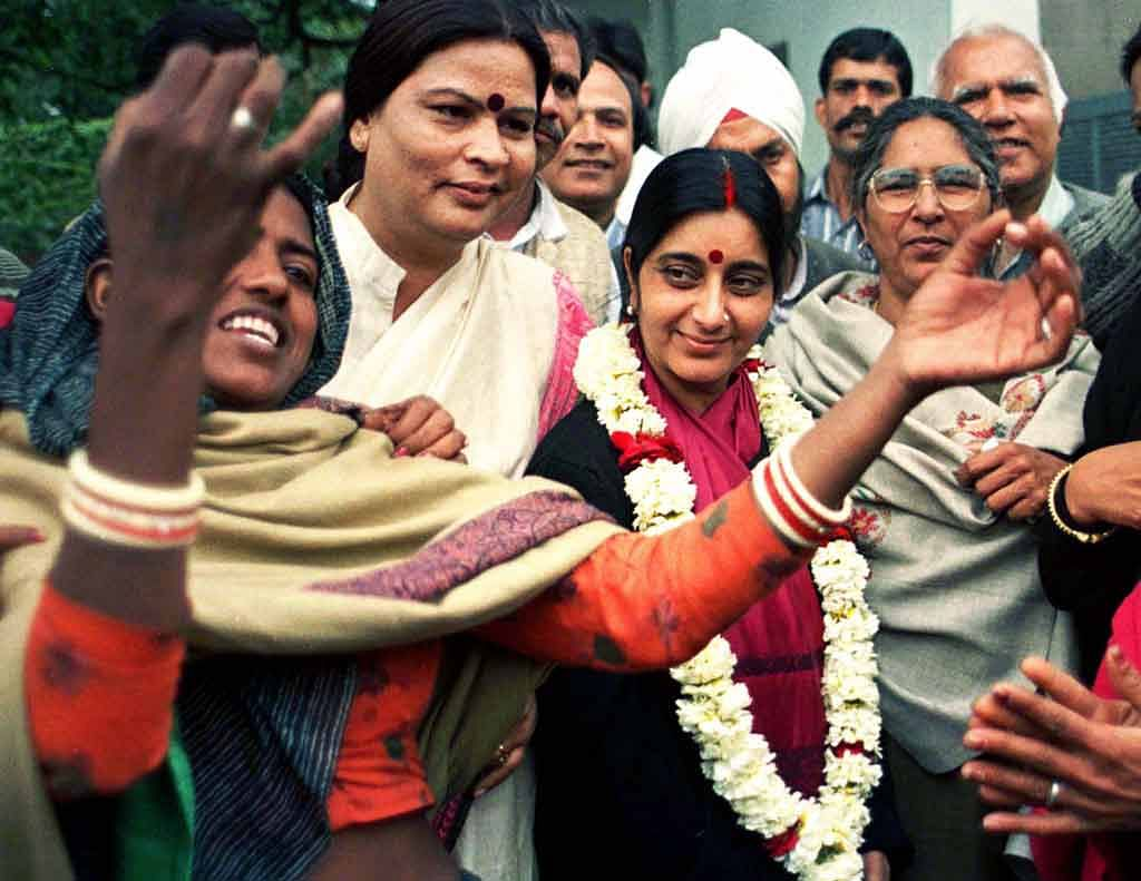 The BJP has failed to capture power in Delhi after Sushma Swaraj was ousted by Sheila Dikshit in 1998 due to the onion crisis. (Photo: Reuters)