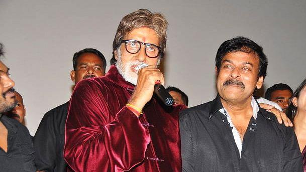 Amitabh Bachchan with Chiranjeevi.
