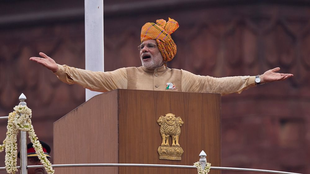 Prime Minister Narendra Modi addresses the nation from Red Fort on the 69th independence day.