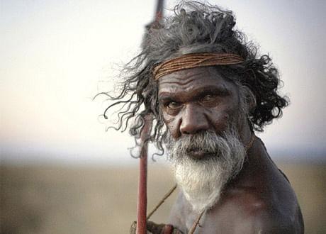 An aboriginal man in a scene from John Pilger's <i>Utopia</i>