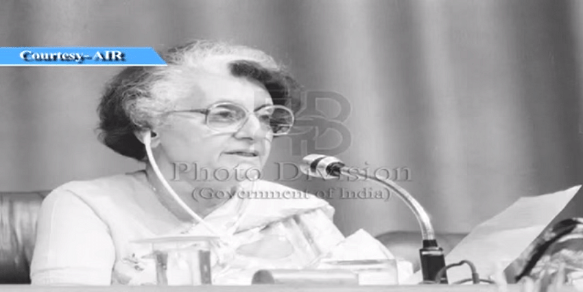 """(Photo Courtesy: YouTube/<a href=""""https://www.youtube.com/watch?v=facmn2S-sOo"""">Ministry of Information &amp; Broadcasting </a>of a speech made by Indira Gandhi in 1981)"""