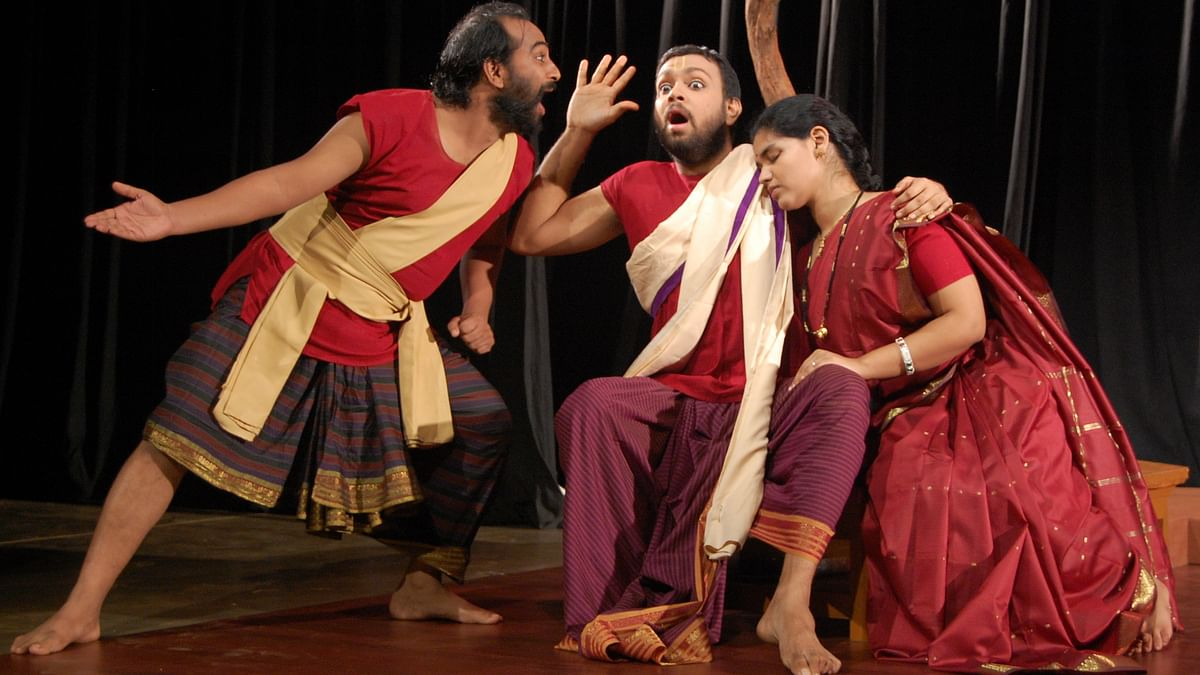 This little village group could give Delhi's acting schools a run for their money! (Photo Courtesy: Ninasam)