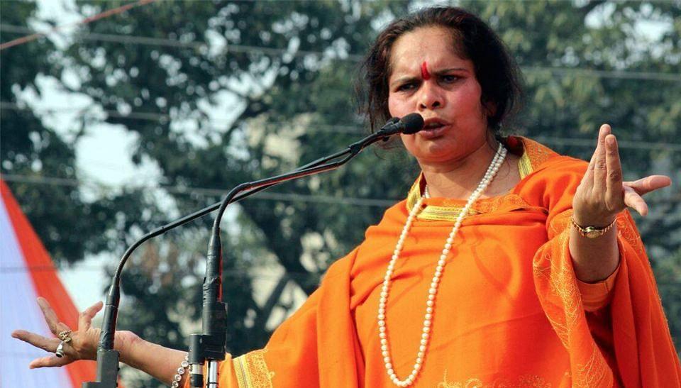 """VHP leader Sadhvi Prachi. (Courtesy: Facebook/<a href=""""https://www.facebook.com/pages/Sadhvi-Dr-Prachi-didi/587170201337662?fref=ts"""">Sadhvi Prachi</a>)"""