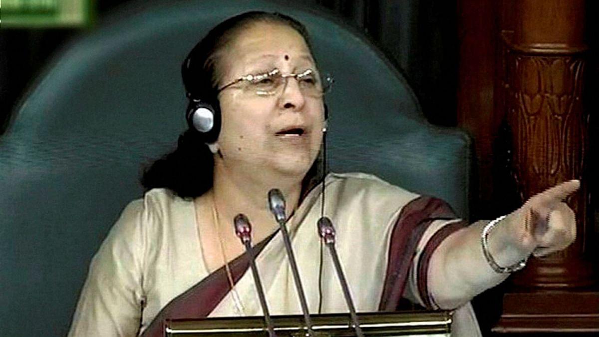 Lok Sabha Speaker Sumitra Mahajan.