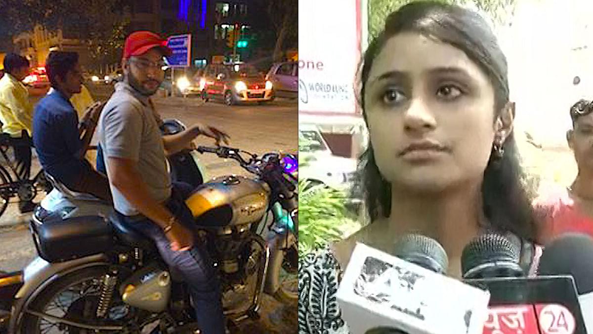 Jasleen Kaur (right) shamed her abuser (left) on social media. (Photo: Facebook/ANI)