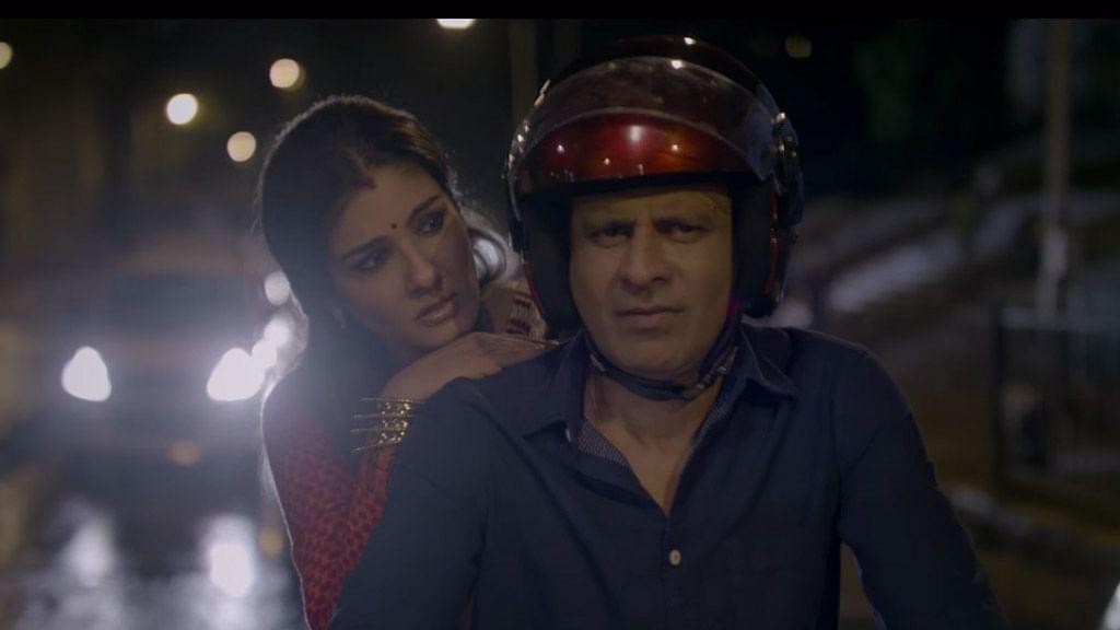 Screen shot from Raveena Tandon and Manoj Bajpayee's short film