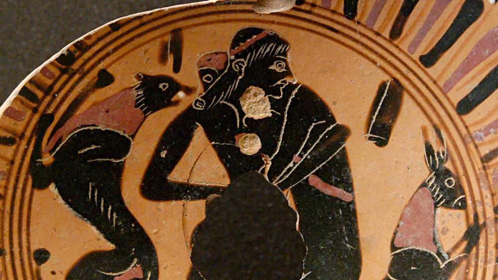 Pottery from Ancient Greece depicting a homosexual encounter. (Photo Courtesy: Wikimedia Commons)