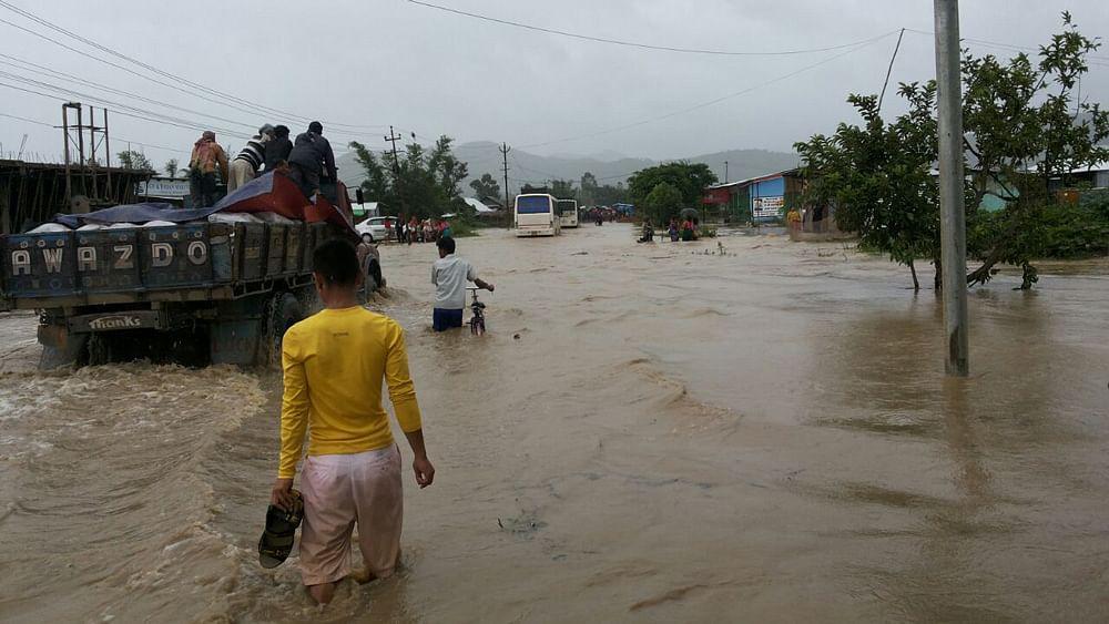 Flood in Mizoram.
