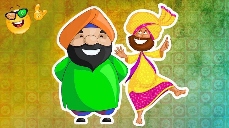 Santa-Banta jokes  take the form of a conversation between two Sikh men whose ignorance and naivete is aimed at evoking laughter.